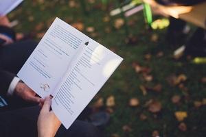 Livret de mariage non religieux pour cérémonie laique originale.